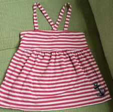 VINEYARD VINES GIRLS RED AND WHTE STRIPE ANCHOR TOP SIZE L 16-18 EUC!