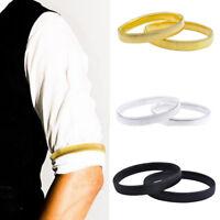 2x Shirt Sleeve Holders Arm Bands Garter Elasticated For Mens Ladies