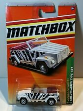 MATCHBOX MB98 1974 VOLKSWAGEN TYPE 181 THING WHITE with ZEBRA STRIPES