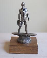 """Surfing Salesman Statuette Salesman on oak display 4x4x7"""""""