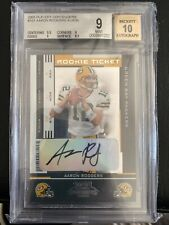2005 Playoff Contenders Rookie Ticket Aaron Rodgers Packers RC AUTO /530 BGS 9