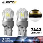 2X 7443 7440 T20 LED Back up Reverse Brake Signal Light Bulbs 6000K 2800LM White