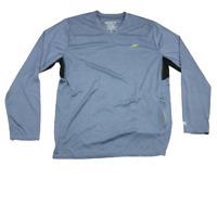 Speedo V Neck, Long Sleeve, Performance Shirt, Gray, Size Large