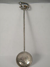 1787 Switzerland 10 Kreutzer Sterling Silver Coin Spoon Crowned Arms Bear Finial