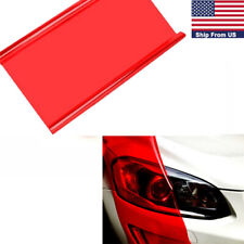 "Red Glossy Vinyl Taillight Fog Headlight Lamps Tint Film Sticker Decor 12""X 48"""
