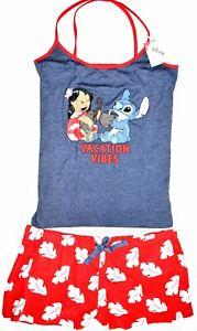 Lilo Stitch PJ Set Pyjamas Disney Primark Vest Shorts Womens UK Sizes 14 to 20