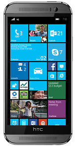 NEW GUNMETAL GRAY VERIZON GSM UNLOCKED HTC ONE 1 M8 WINDOWS OS PHONE JM12 B