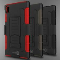 Tough Belt Clip Holster Kickstand Combo Phone Cover Case for Sony Xperia Z5