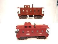 Vintage Lionel Toy Train Cabooses: 6457 & 6357 Lighted Cabooses-Decent cars-Look