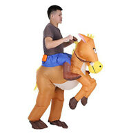 Inflatable Horse Rodeo Riding Cowboy Costume Suit-Fancy Dress Party Outfit