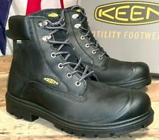 KEEN MEN SIZE 8 1/2 EE STEEL TOE WATERPROOF NEW BOOTS BALTIMORE 1018662EE