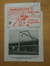 Manchester United Res v Barnsley Res  1963/64 - Central League