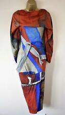 NEW VIVIENNE WESTWOOD Rare Union Jack Bondage Deconstructed Party Dress 38