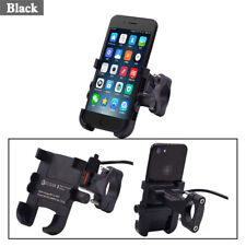 Mobile Phone Bracket QC 3.0 Fast Charger 5V / 3.4A 360° Rotation Black Aluminum