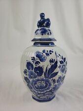 Delft blue holland ginger jar handpainted porcelain antique
