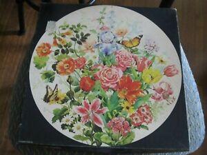 Vintage Springbok Floral SWEET MEMORIES Round Jigsaw Puzzle