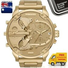 New Diesel Mens Watch Mr.Daddy 2.0 Oversized All Gold Tone S/Steel 4 Zone DZ7399