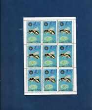 1979 Honey Bees 50ch-Sheetlet of 9