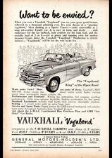"1953 VAUXHALL VAGABOND CONVERTIBLE AD A2 CANVAS PRINT POSTER FRAMED 23.4""x16.5"""