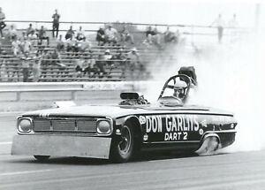 "Don Garlits Dodge Dart 2 Funny Car Motor City Dragway B&W  Poster 11""x17"" Photo"