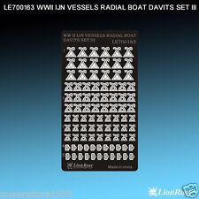 LionRoar PE details 1/700 WWII IJN Vessels Radial Boat Davits Set III