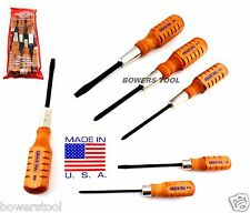 Grace 6pc Wooden Screwdriver Set Phillips Flat Home Care & Mechanics MADE IN USA
