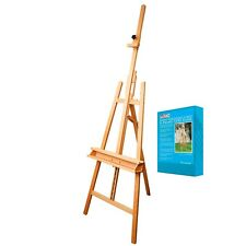 """Us Art Supply Sunset 64"""" to 89"""" High Large Refined Sturdy Inclinable Wood Art."""