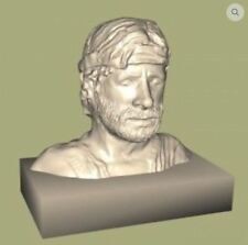 Chuck Norris Bust 3D Printed