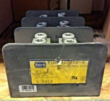 PDB-22-350-3-ILSCO POWER DISTRIBUTION BLOCK PDB 620A AMP 3P POLE 600V  Used