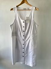 [CR LOVE] SZ 16 NEW! [COUNTRY ROAD] SLEEVELESS DENIM DRESS IN ANTIQUE WHITE XL