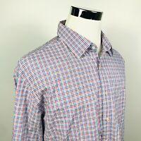 NWT Rodd & Gunn Mens 2XL Sports Fit Woodville Shirt Red White Blue Plaid Cotton