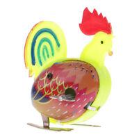 Retro Wind Up Clockwork Jumping Tin Cock Toy Kids Children Gifts