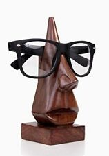 Solid Handmade Wooden Nose Shaped Spectacle Specs Eyeglass Holder stand