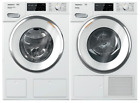 """Miele 24"""" Front Load Smart WWH860WCS Washer & TWI180WP 24"""" Electric Dryer Set  photo"""