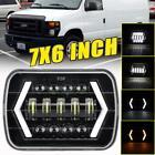7x6 Led Headlight W Turn Signal Drl For Ford E-150 E-250 Econoline 1982-2012