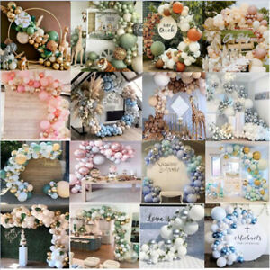 86-169PCS Balloon Arch Kit Set Birthday Wedding Party Garland Decor Balloons AU