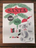Daytons Department Store 1953 Christmas Santa Claus and Me Photo W/ Holder