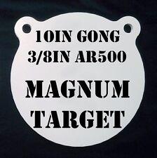 10 In. AR500 Gong Shooting Target - 3/8 Thk Rifle Target - 1pc. Steel Target Set