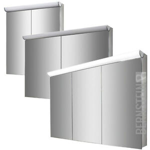 BERNSTEIN Spiegelschrank Spiegel Wandspiegel LED Beleuchtung 120cm /100cm /60cm