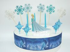 ELSA Frozen Cake Decoration Set  - Cake Topper Figure Decoration Birthday
