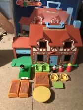 Fisher Price Vintage Play Tudor Family House Play 1980's Toy figures furniture