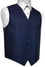 MEN'S NAVY BLUE PAISLEY FORMAL DRESS TUXEDO VEST. WEDDING, PROM
