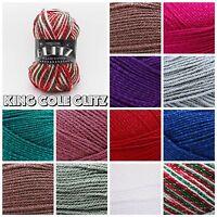 King Cole Glitz Double Knitting Premium Acrylic Sparkle Knitting Yarn Wool 100g