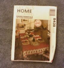 McCall's Home Decorating Pattern 8438 Dining Essentials Tablecloth, Napkin.....