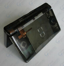 Nintendo DS Lite Full Replacement Housing Shell Screen Lens Clear Black US!