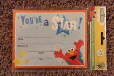Sesame Street Elmo Recognition Awards Teacher Supplies Set of 20 Preschool