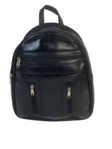 Genuine Leather BackPack LBP07 Black