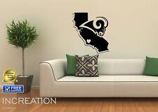 Los Angeles Rams Wall Decal Home Decor Vinyl Sticker mural graphics football LA