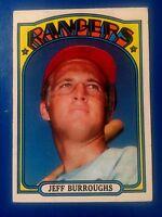 1972 TOPPS BASEBALL CARD - RC JEFF BURROUGHS - TOPPS CARD #191