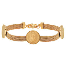 """Stainless Steel Saint Benedict Protection Catholic Mesh Bracelet for Woman 7"""""""